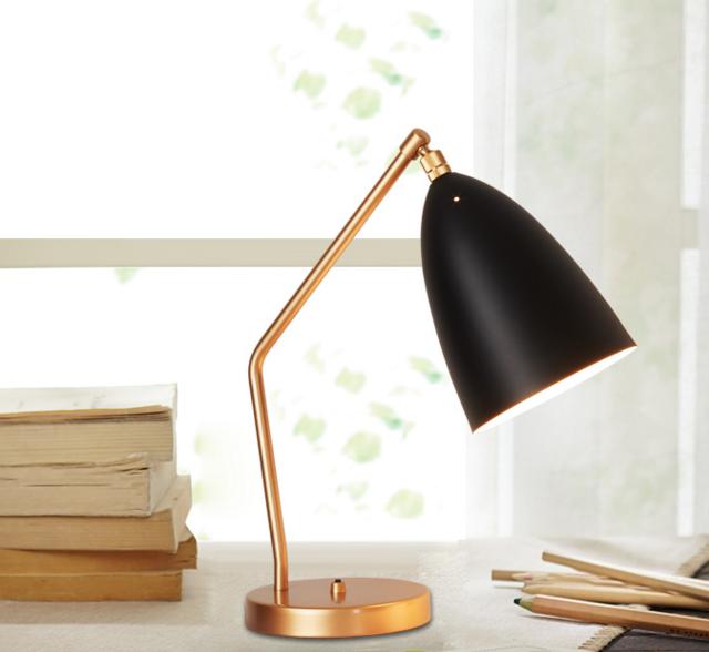 Tischlampe Gold-Schwarz